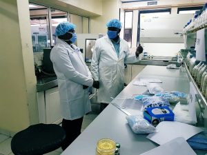 An inspection tour of KEBS laboratories to ascertain standardization of Personal Protective Equipment in fight against the covid-19 coronavirus. www.businesstoday.co.ke