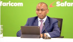 Safaricom CEO Peter Ndegwa during the release of the company's 2019 Full Year results.