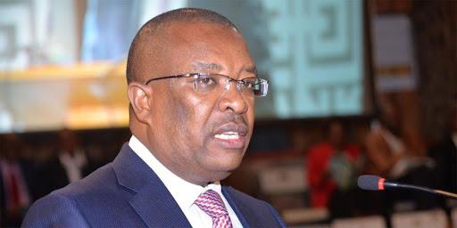 Co-operative Bank CEO Gideon Muriuki addressing a past forum