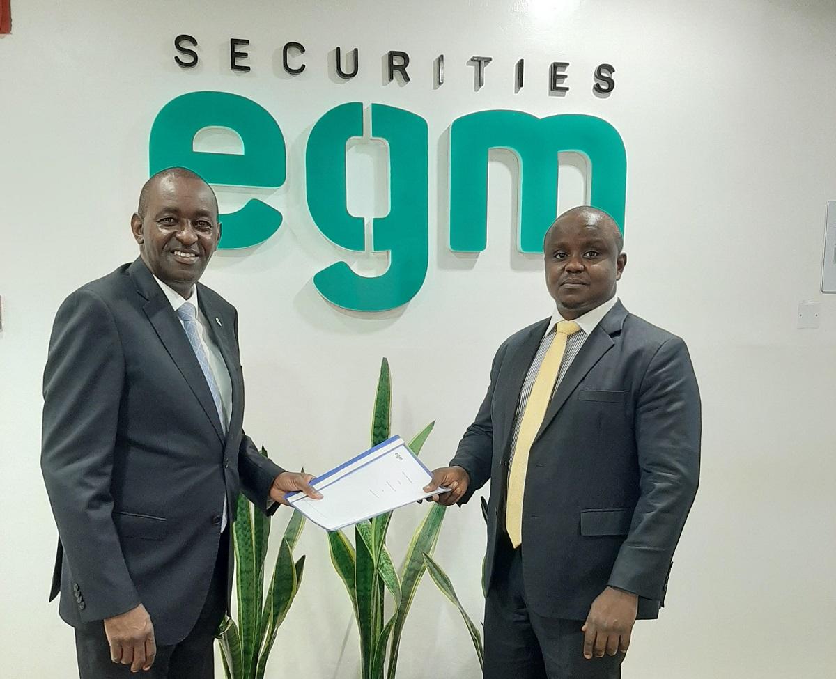 EGM Securities CEO Samwel Kiraka & Genghis Capital Kenneth Minjire www.businesstoday.co.ke