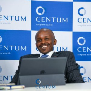 Centum CEO James Mworia at a past briefing