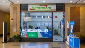 File image of a Safaricom shop