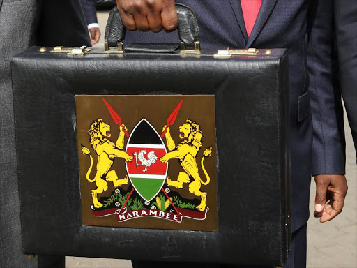 The iconic Kenyan Budget Briefcase. Treasury Cabinet Secretary Ukur Yatani is expected to read the budget in July.