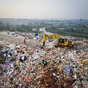 Plastic waste disposal in Kenya