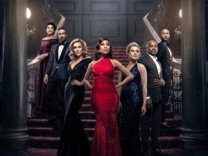 Legacy Cast (L-R) Michelle Botes, Sean-Marco Vorster, Mary-anne Barlow, Kgomotso Christopher, Reandi Grey, Siyabonga Thwala and Anton David Jephta