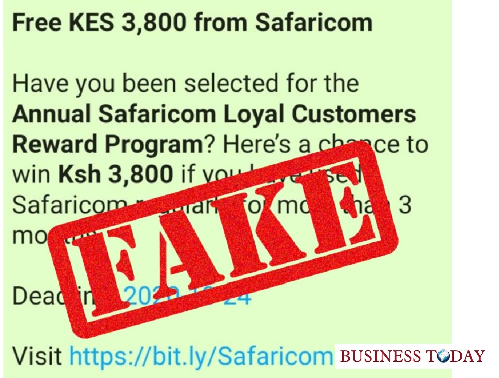 Safaricom fake promotion
