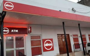 File image of an Absa bank branch