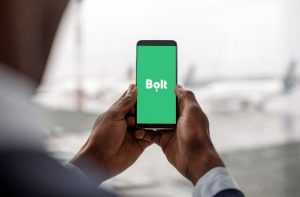 A Bolt user on a mobile device