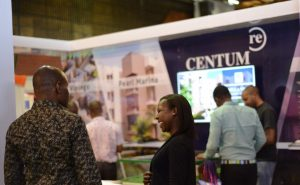 Centum Real Estate branding pictured at a past trade show