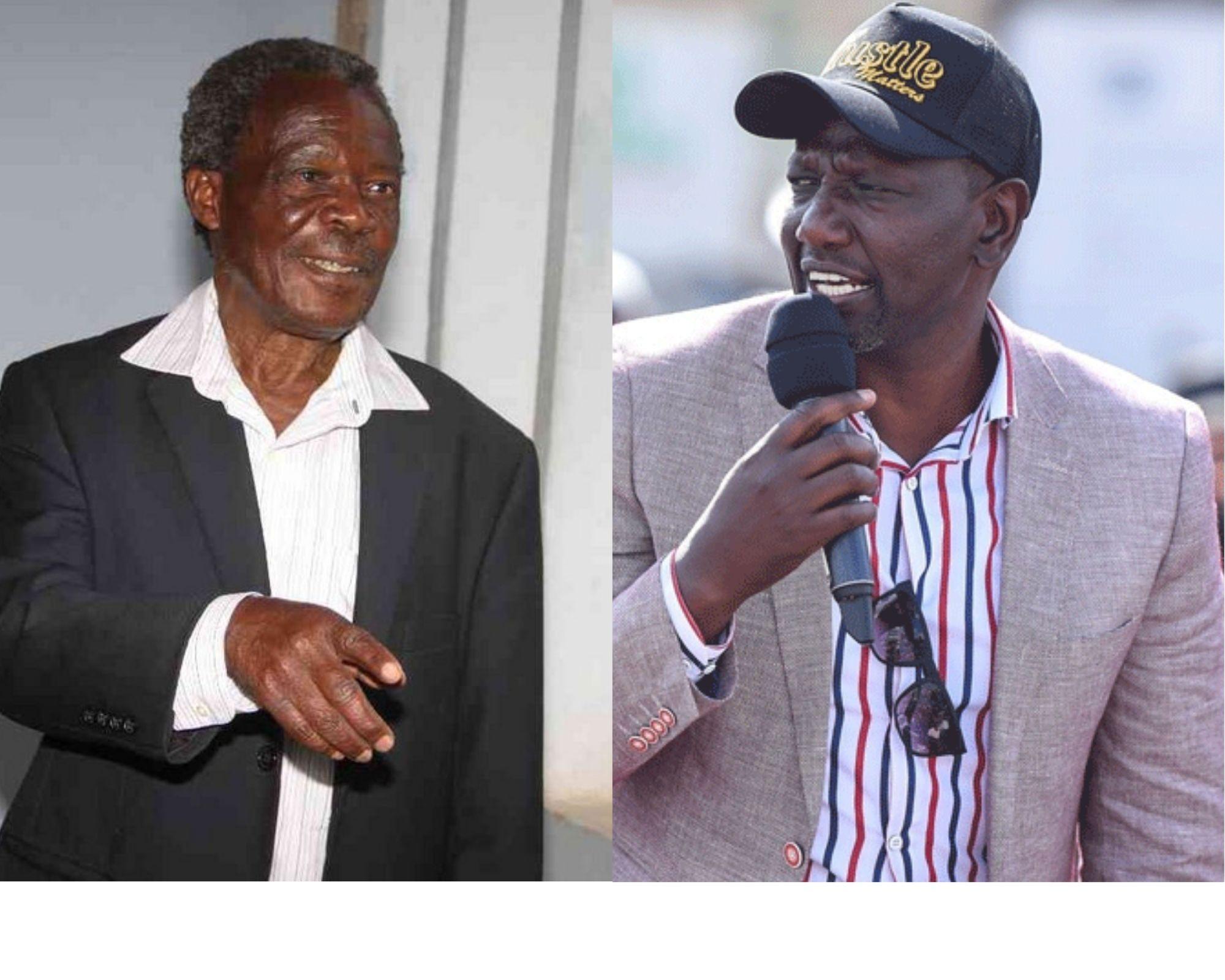 Adrian Muteshi (left) and Deputy President William Ruto