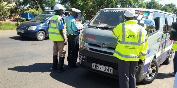 File image of NTSA officials during a past crackdown