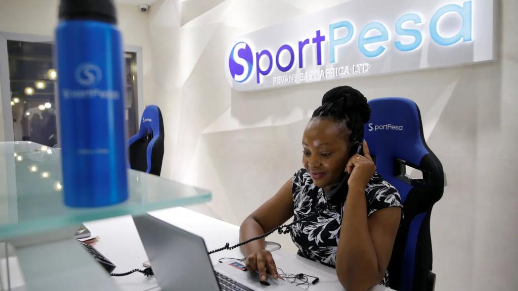 A Sportpesa customer service representative at work
