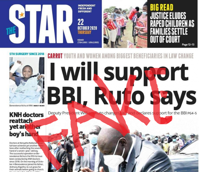 Star newspaper front page www.businesstoday.co.ke
