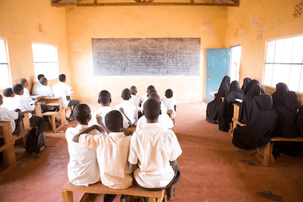 Pupils in a classroom before the onset of the Covid-19 pandemic in Kenya. The TSC has advertised over 15,000 promotional vacancies for teachers.
