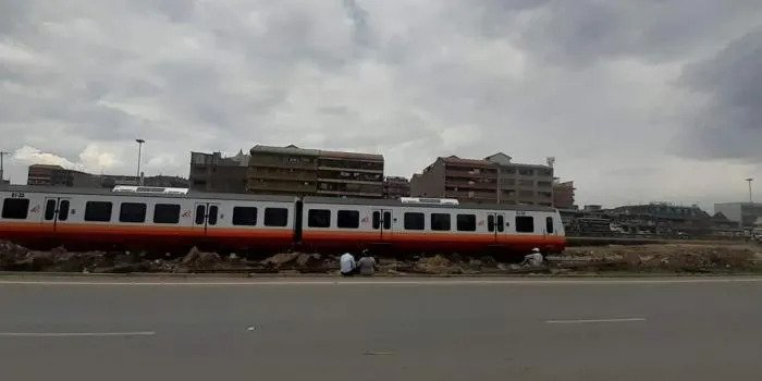 One of the Diesel Multiple Units (DMU) pictured in Nairobi on October 27, 2020