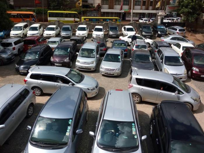Cars parked in Nairobi