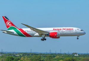File image of a Kenya Airways plane