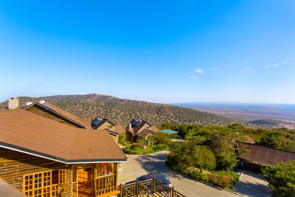 The view from Lerruat Log Resort in Kajiado
