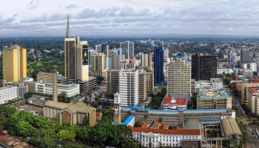 View of a section of Nairobi, Kenya's capital city. Kenya's GDP is forecasted to grow by 6.9 per cent in 2021.