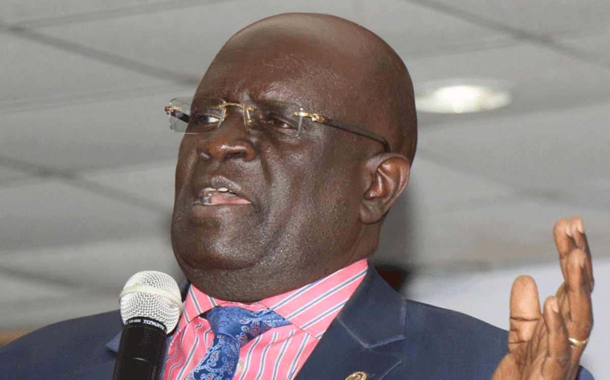 Education CS George Magoha speaking at a past event