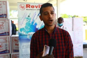 Revital Healthcare Sales Director Roneek Vora pictured at the Moi International Airport in Mombasa on November 25, 2020.