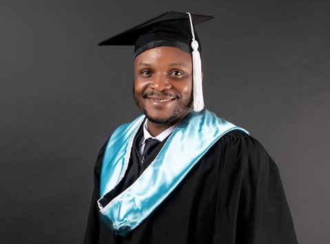 Jalang'o pictured in his graduation gown