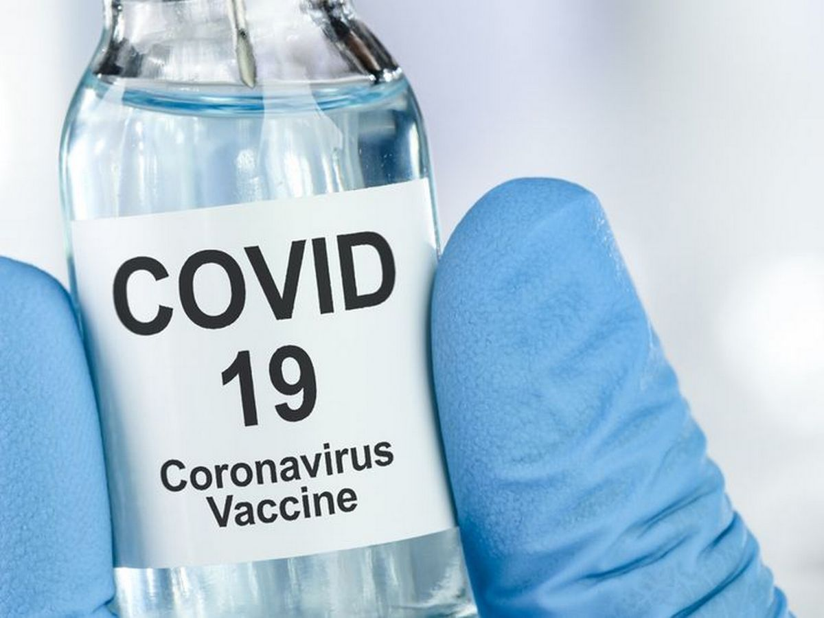 Depiction of a Covid-19 vaccine
