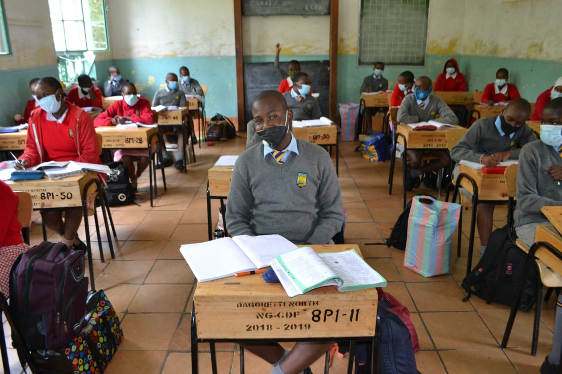 Learners in a classroom
