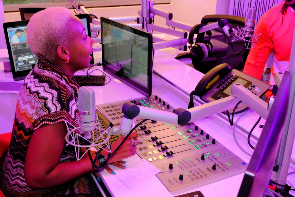 NRG Radio presenter Mwalimu Rachel at the station's studios
