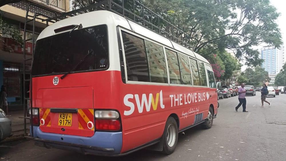 A SWVL van in Nairobi