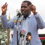 Agriculture Cabinet Secretary Peter Munya addressing a past public forum.