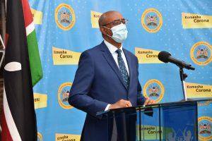 Health Cabinet Secretary Rashid Aman addressing a past media briefing