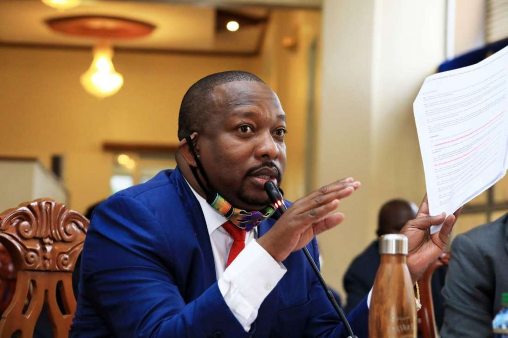 Mike Sonko responds to questions during a past grilling.