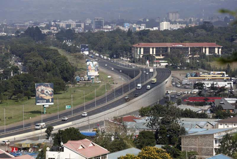 A view of a section of Nakuru town. Construction of an international airport in the county was commissioned on December 15, 2020.