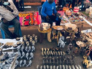 Curio sellers at the Masaku Flea and Curio Market at the Machakos Peoples Park. It is among regular events held at the Machakos People Park.