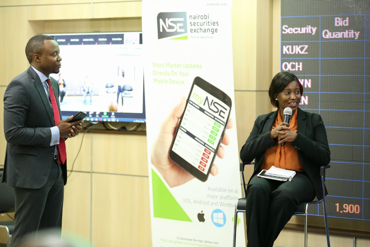 buying NSE stocks on mobile phone