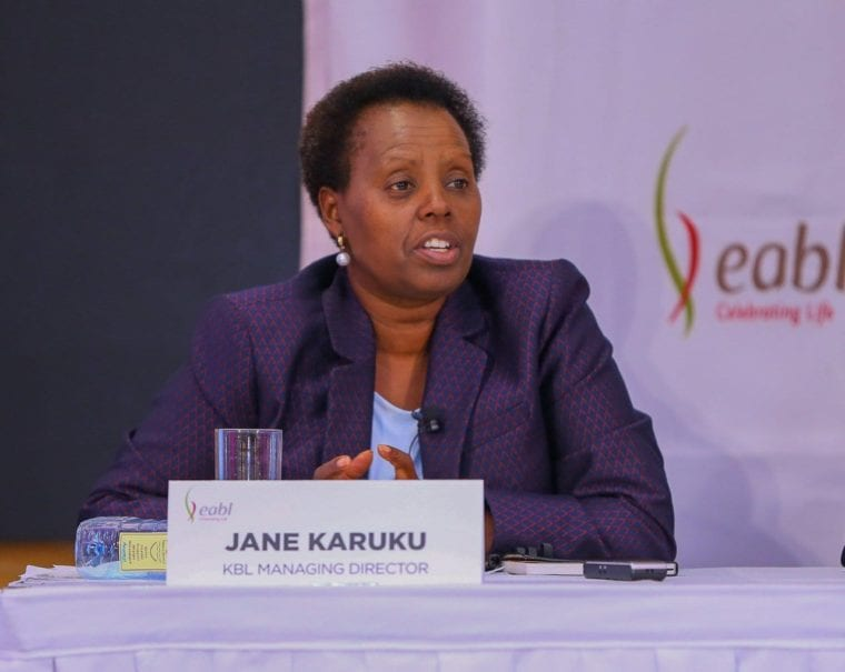 Newly appointed EABL Managing Director Jane Karuku at a past event.