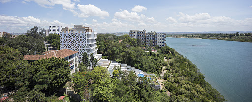 Apartments overlooking the Indian Ocean in Mombasa, Kenya.