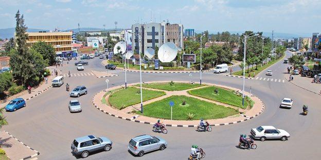 A section of Kigali, Rwanda.