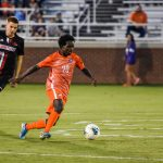 Midfielder Philip Mayaka in action for the Clemson Tigers. He is eligible to be drafted by MLS sides in the 2021 SuperDraft.