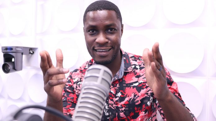 Nick Ndeda in studio, He has announced his exit from Radio Africa Group after 9 years on air.