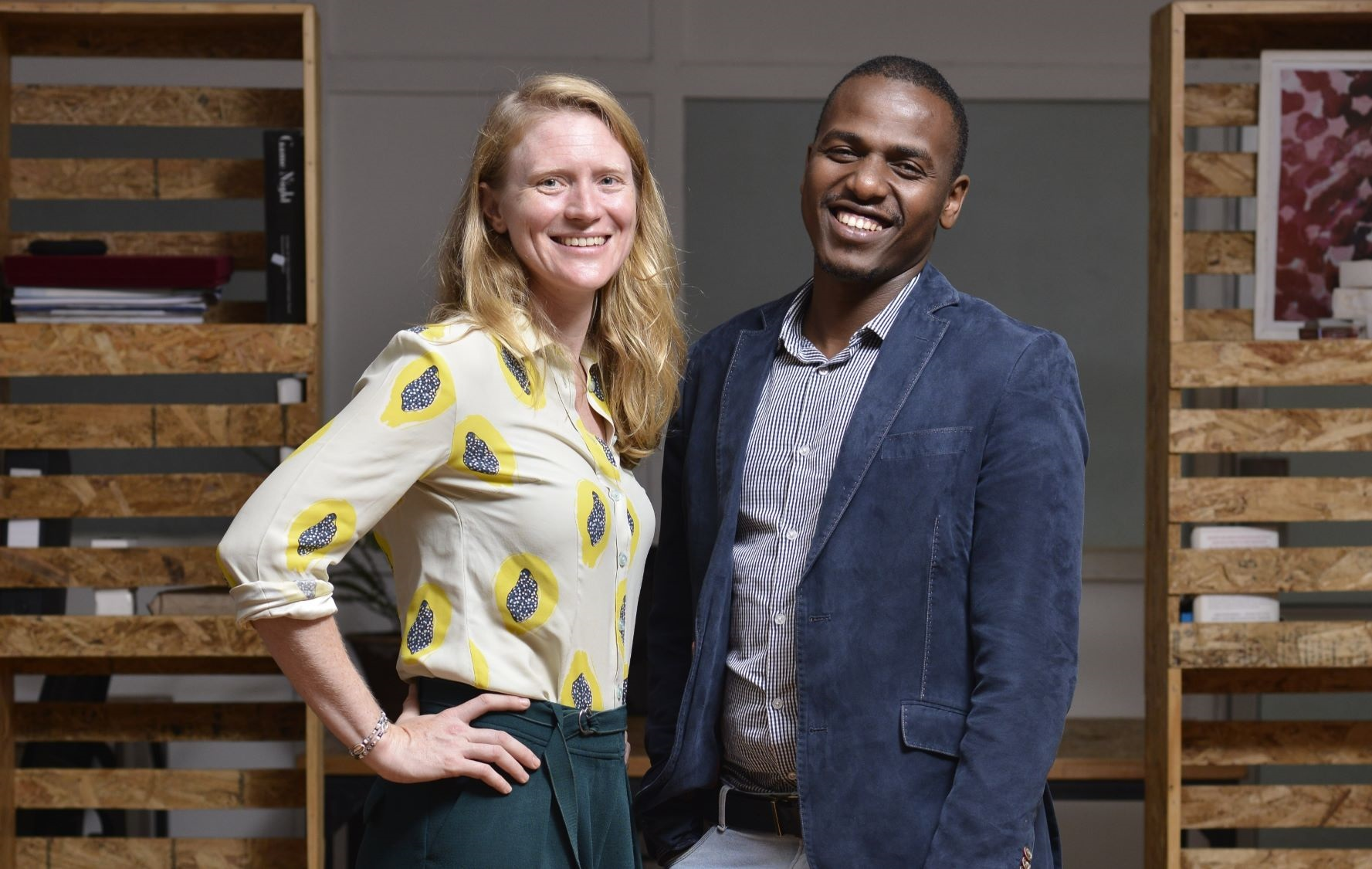 Pula Co-Founders and Co-CEOs, Rose Goslinga & Thomas Njeru. Pula provides agricultural insurance and digital products to help smallholder farmers manage climate risks, improve farming practices and increase their incomes. [ Photo / Courtesy ]