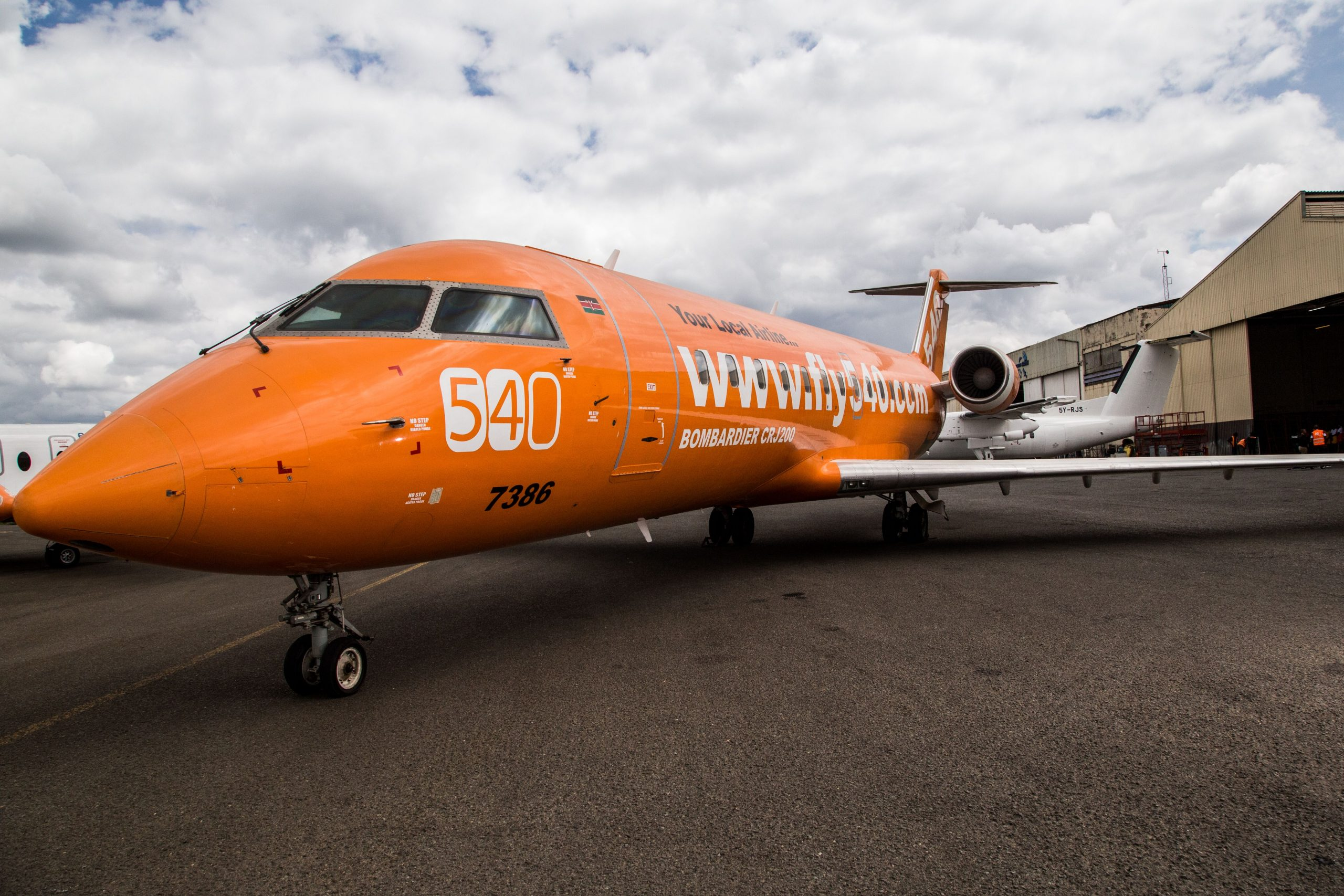 A Fly540 plane. The aircraft has been suspended by IATA from its BSP platform.