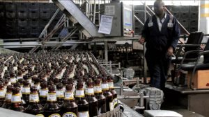 A bottling line at the East African Breweries Limited plant in Ruaraka, Nairobi. Courtesy: Phoebe Okall