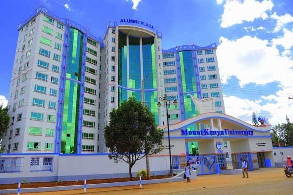 The Alumni Plaza at Mount Kenya University (MKU). The institution has launched a mental health program to address various challenges facing the youth.