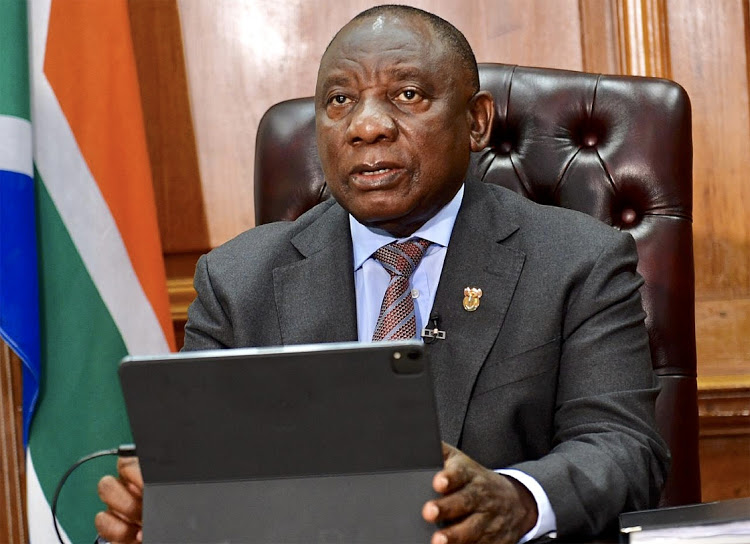South African President Cyril Ramaphosa during a past briefing