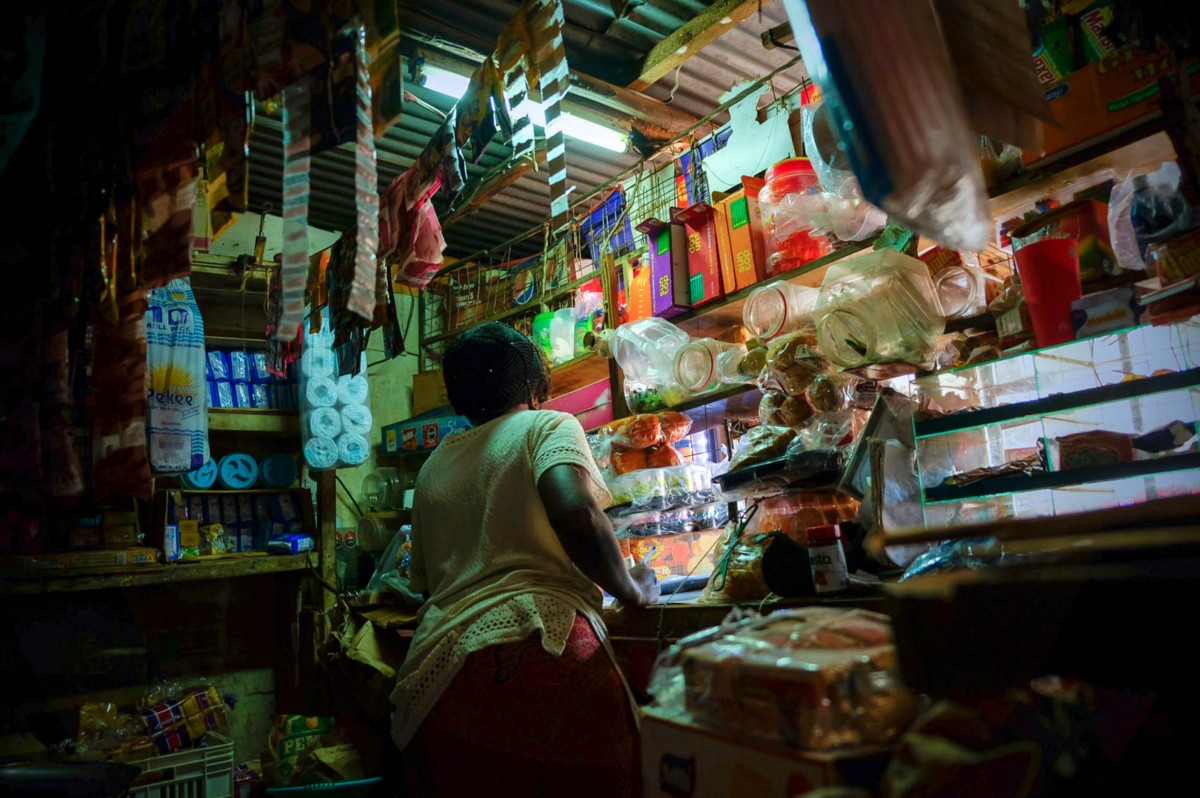 A shopkeeper in Nairobi. A new program by Mastercard, Unilever and KCB aims to cushion micro-retailers from the shocks of the pandemic.