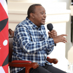 President Uhuru Kenyatta during a past interview with Kikuyu vernacular radio stations in April 2020.