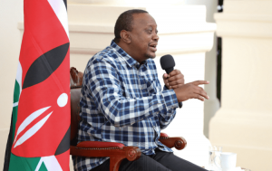 President Uhuru Kenyatta during a past interview with Kikuyu vernacular radio stations in April 2020.
