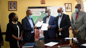 Kisii county signs Agribiz MOU.The AgriBiz Programme will provide support in identifying market opportunities and value-adding activities, building links to markets and gaining access to financial support.